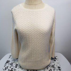 L.L. Bean Women's rope knit sweater size Medium,